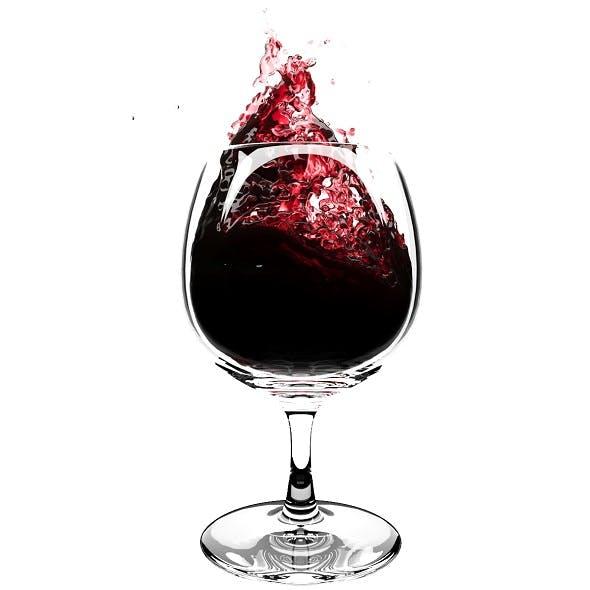 Splash Wineglass 6 - 3DOcean Item for Sale