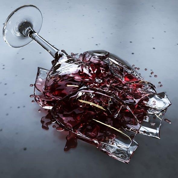 Broken Wineglass - 3DOcean Item for Sale