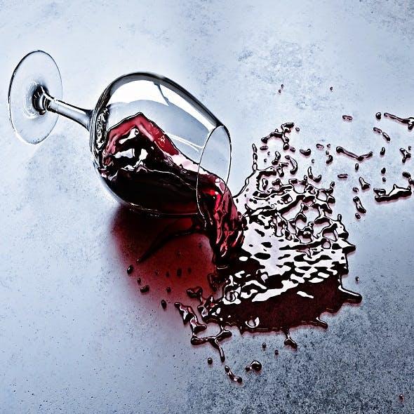 Fallen glass of wine - 3DOcean Item for Sale