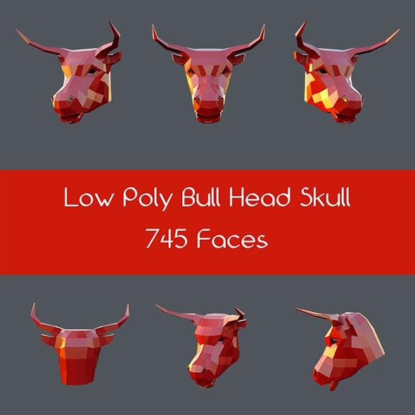 Low poly bull head skull