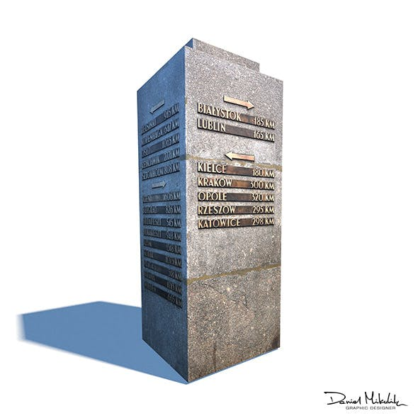 Travel Sign Monument - 3DOcean Item for Sale