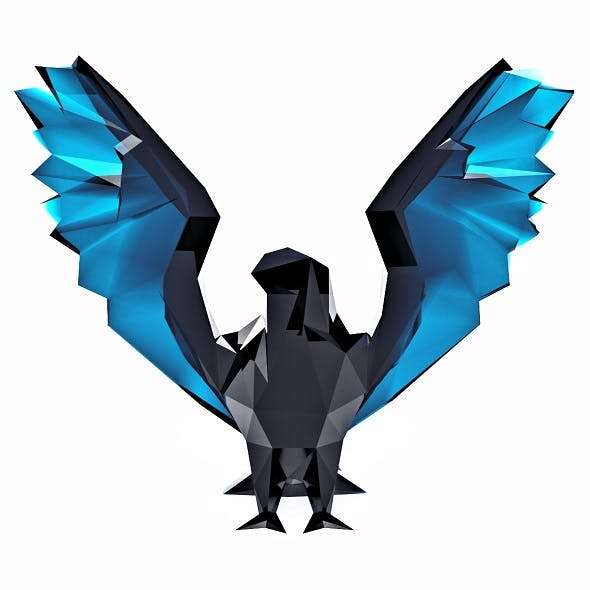 Hawk Low Poly - 3DOcean Item for Sale