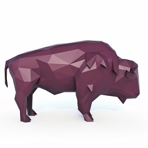 Bison Low Poly - 3DOcean Item for Sale
