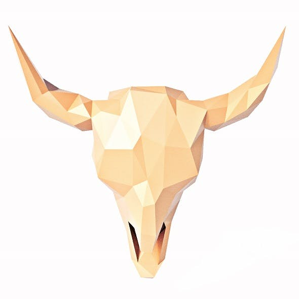 Buffalo Skull Low Poly - 3DOcean Item for Sale