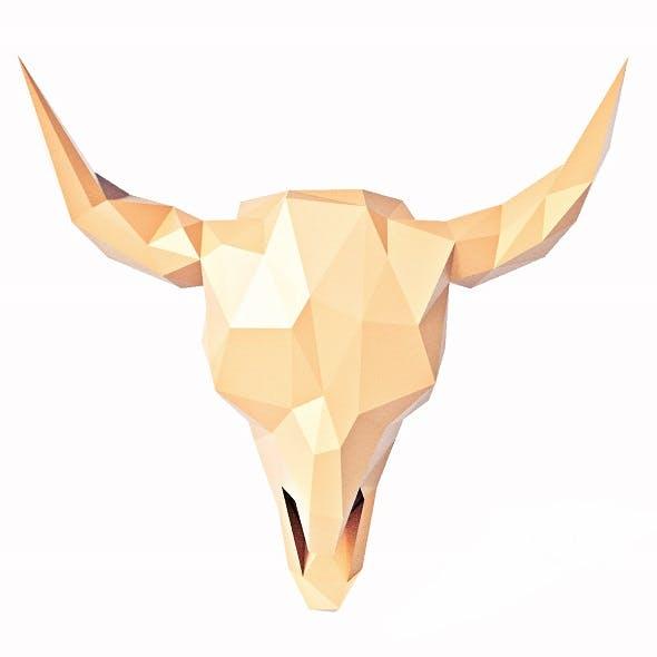 Buffalo Skull Low Poly