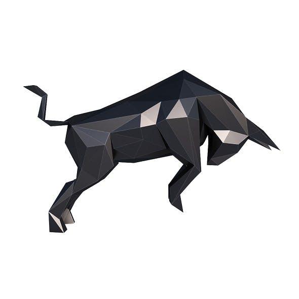 Evil Bull Low Poly