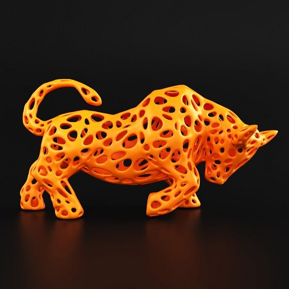 Bull Wireframe - 3DOcean Item for Sale