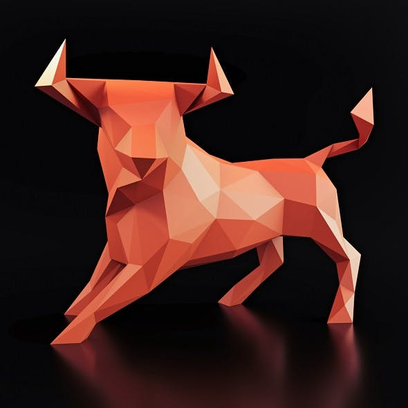 Bull Pose Low Poly