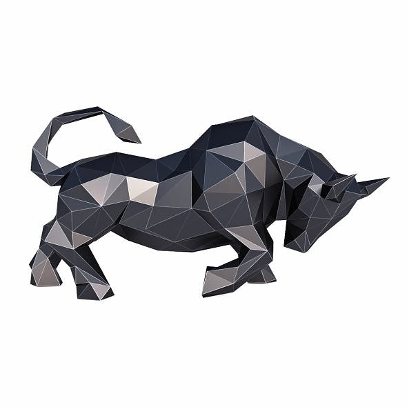 Bull Low Poly - 3DOcean Item for Sale