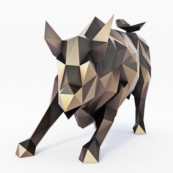 Wall Street Bull Low Poly