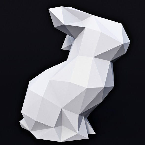 Bunny Low Poly 1