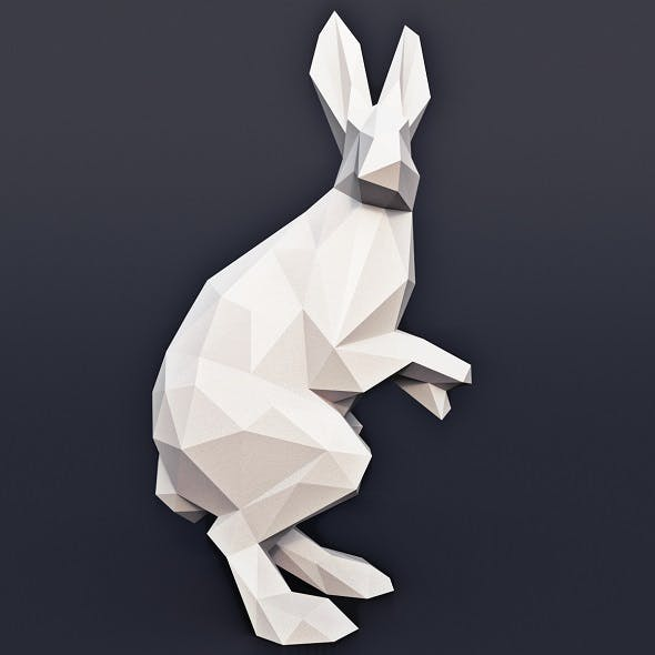Hare Low Poly - 3DOcean Item for Sale