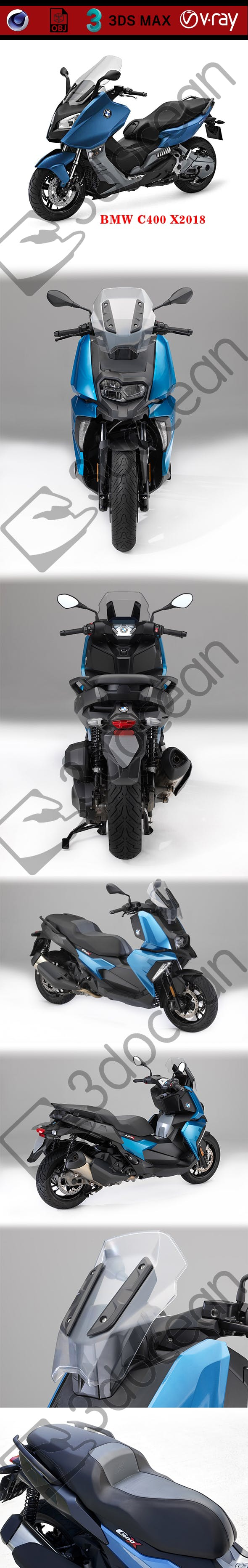BMW C 400 X 2018 - 3DOcean Item for Sale