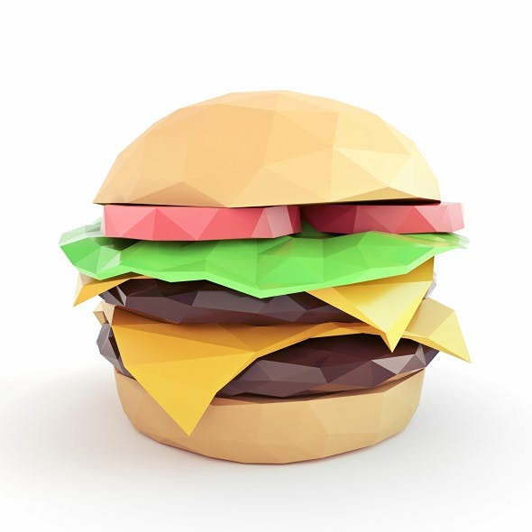 Burger Low Poly - 3DOcean Item for Sale
