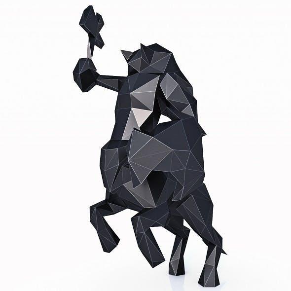 Centaur Low Poly - 3DOcean Item for Sale