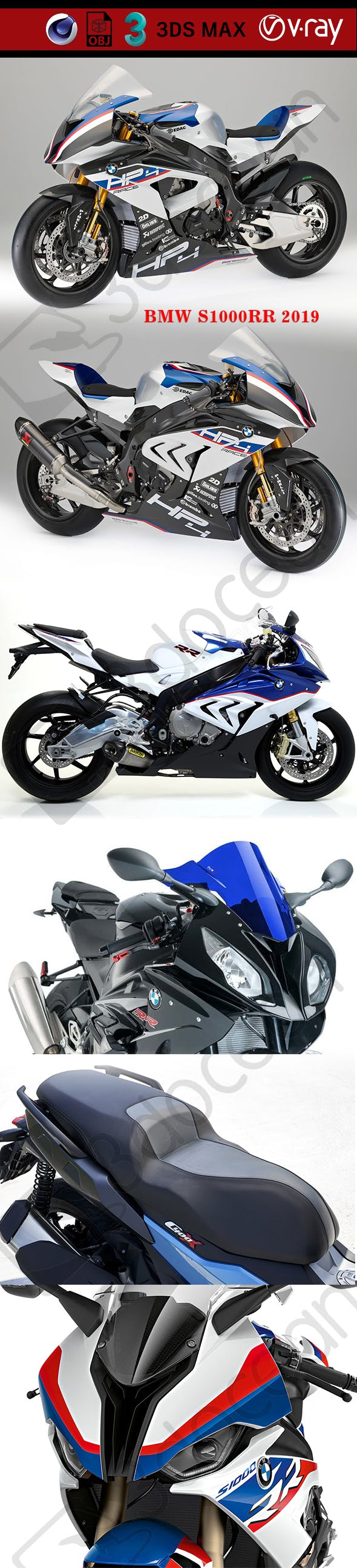 BMW S1000RR 2019 - 3DOcean Item for Sale