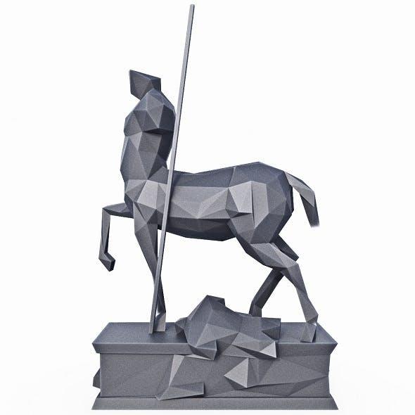 Centaur Statue Pompeii Low Poly - 3DOcean Item for Sale