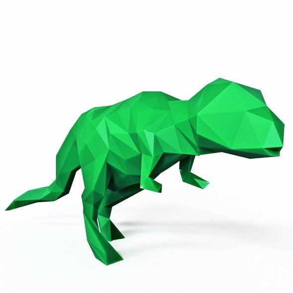 Dinosaur Rex Low Poly