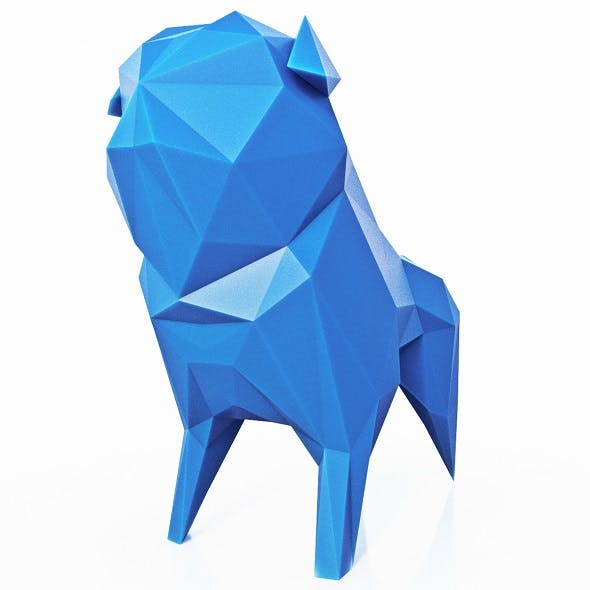 Pug Dog Low Poly - 3DOcean Item for Sale