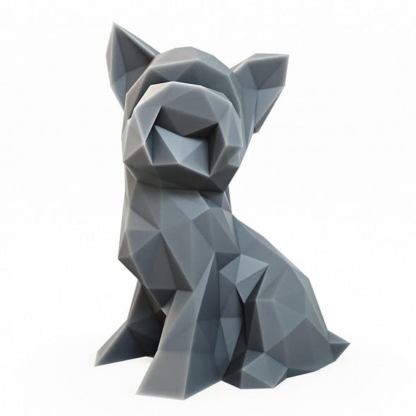 Yorkshire Terrier Low Poly - 3DOcean Item for Sale