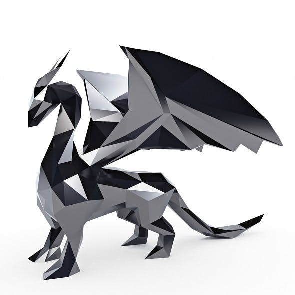 Dragon Low Poly - 3DOcean Item for Sale