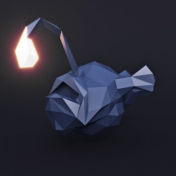 Angler Fish Low Poly - 3DOcean Item for Sale