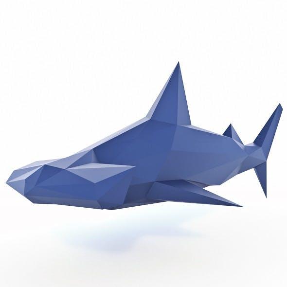 Hammerhead Shark Low Poly