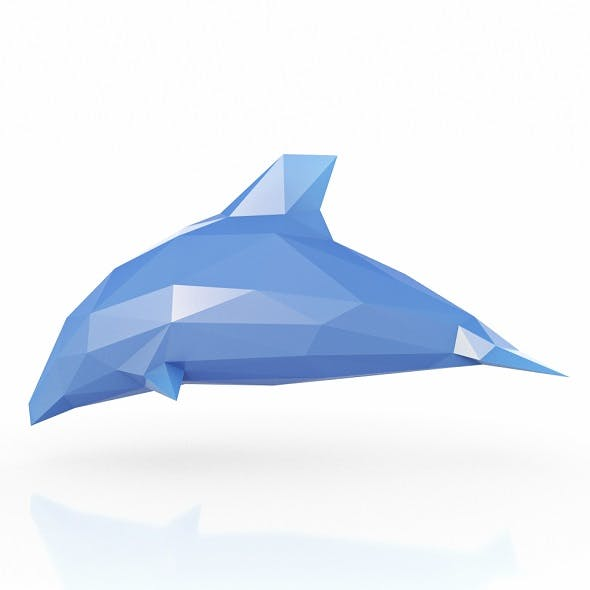Dolphin Low Poly - 3DOcean Item for Sale