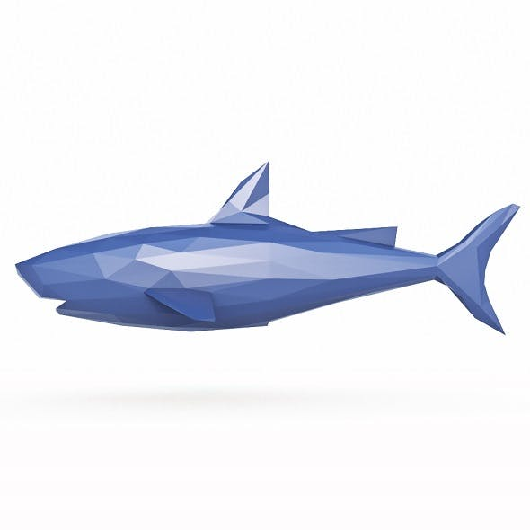 Shark 1 Low Poly - 3DOcean Item for Sale