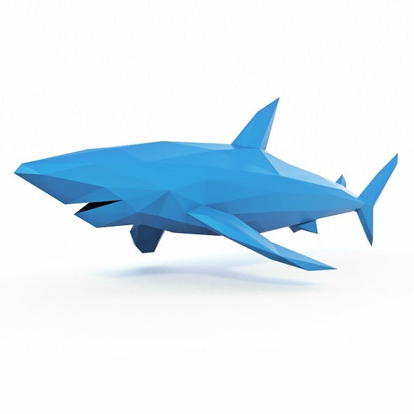 Shark 2 Low Poly - 3DOcean Item for Sale