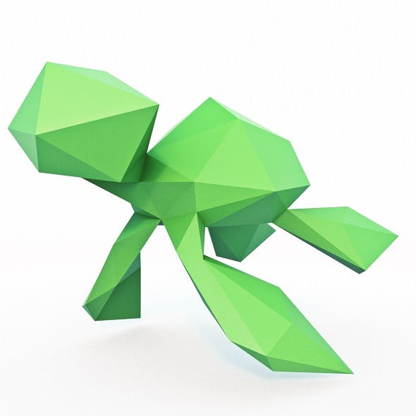 Little Turtle Low Poly - 3DOcean Item for Sale
