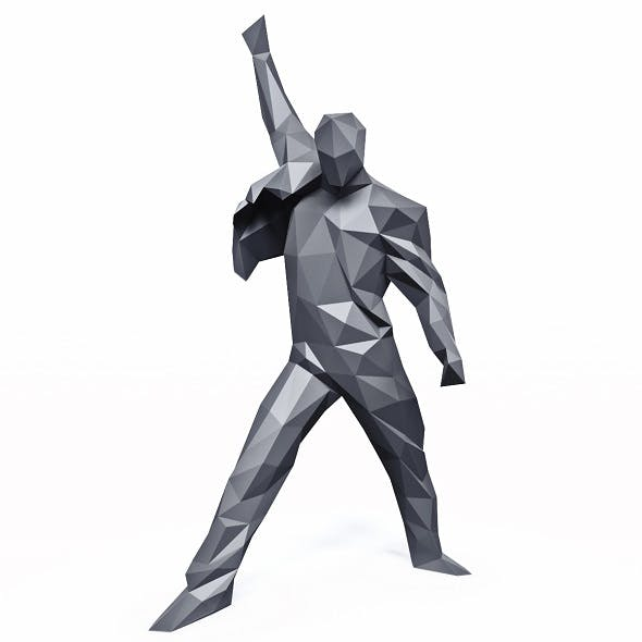 Freddie Mercury Rage Pose Low Poly - 3DOcean Item for Sale