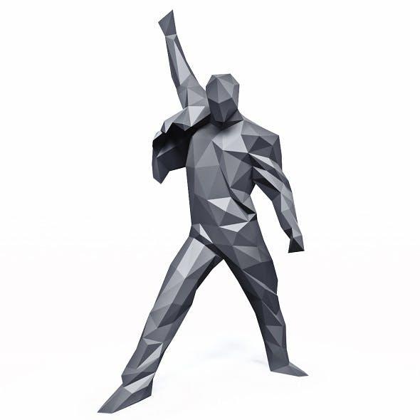 Freddie Mercury Rage Pose Low Poly