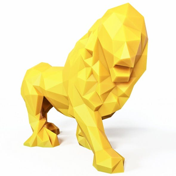 Lion Low Poly