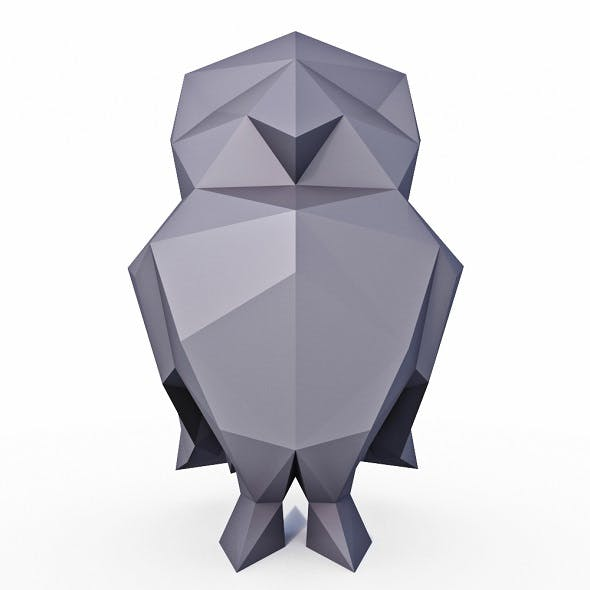 Little Owl Low Poly - 3DOcean Item for Sale