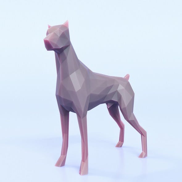 Dog Pose Low Poly - 3DOcean Item for Sale