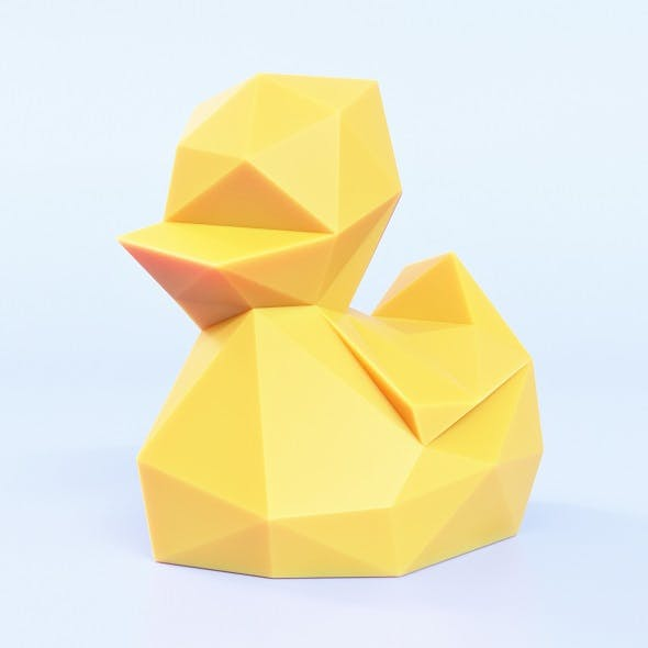 Duckling Low Poly - 3DOcean Item for Sale