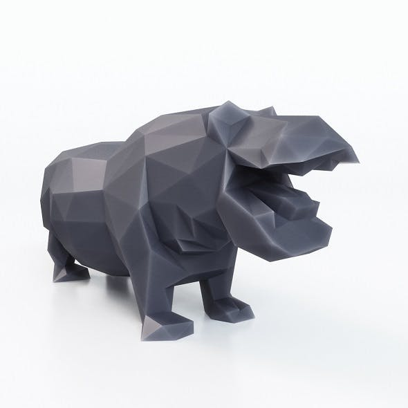Hippopotamus Low Poly - 3DOcean Item for Sale