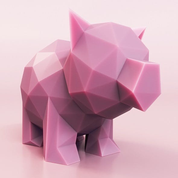 Little Pig Low Poly - 3DOcean Item for Sale