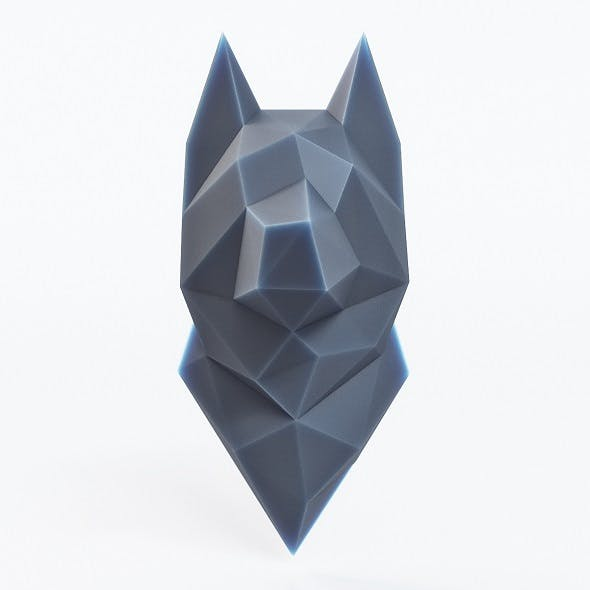 Wolf Head Low Poly - 3DOcean Item for Sale