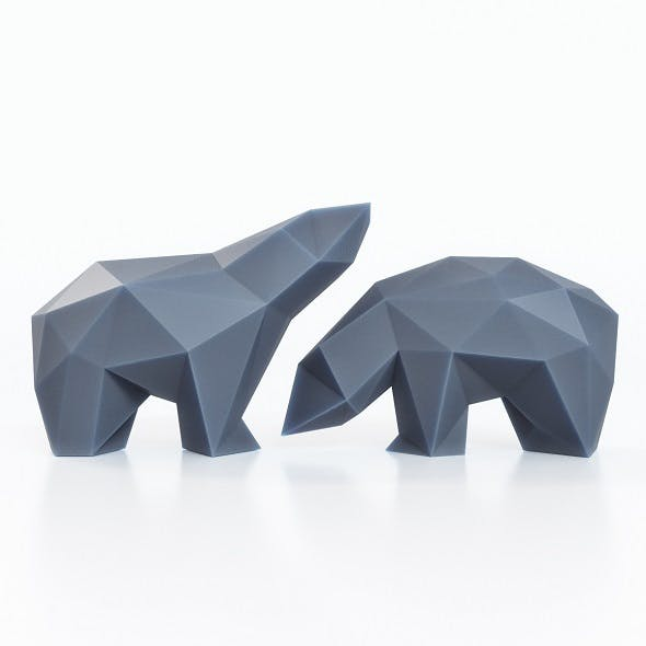 Bears Figures Low Poly