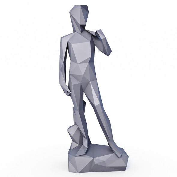 David Statue Low Poly v2 - 3DOcean Item for Sale