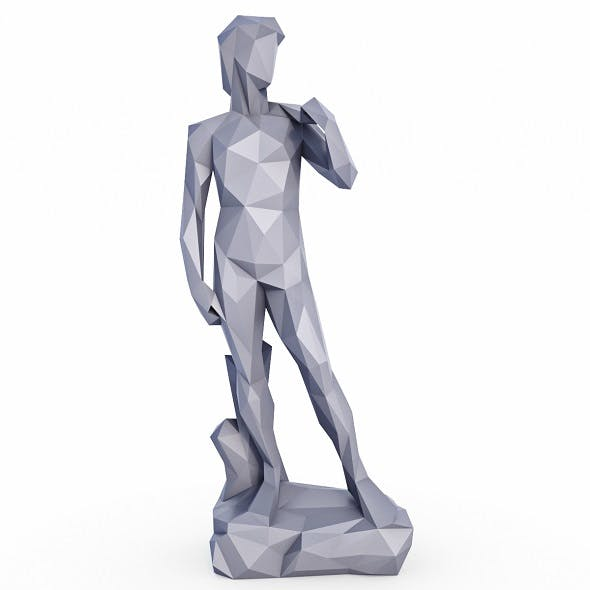 David Statue Low Poly
