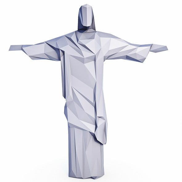 Christ the Redeemer Low Poly - 3DOcean Item for Sale
