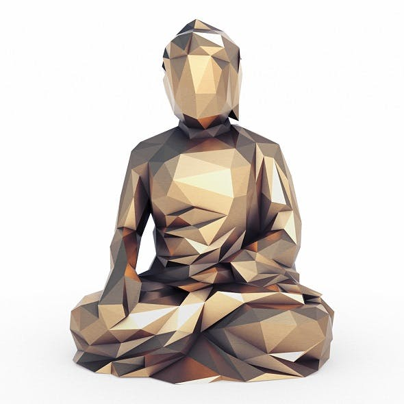 Buddha 1 Low Poly