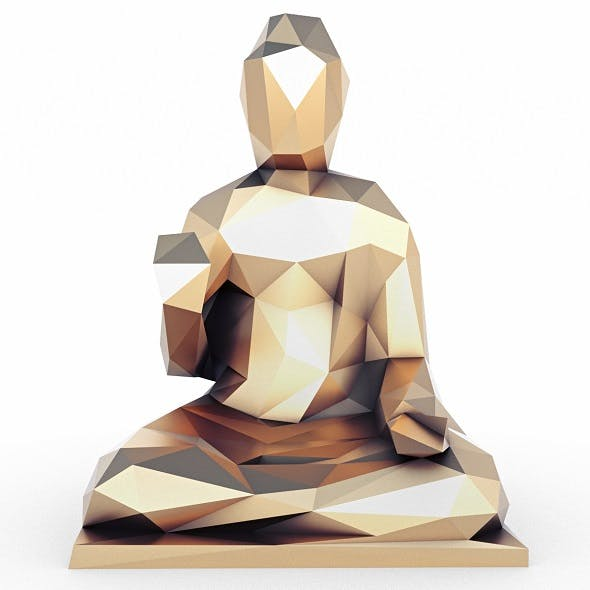 Buddha 2 Low Poly