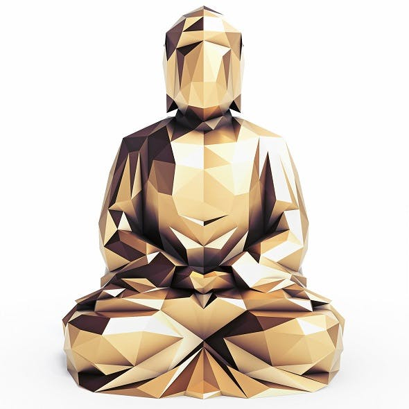Buddha 4 Low Poly