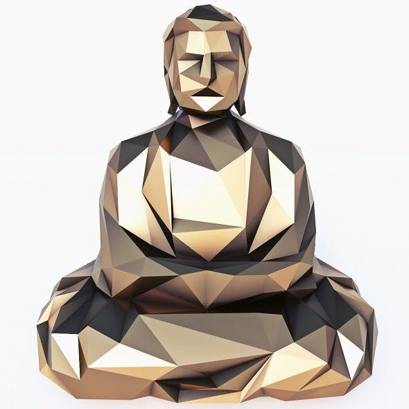Buddha 5 Low Poly