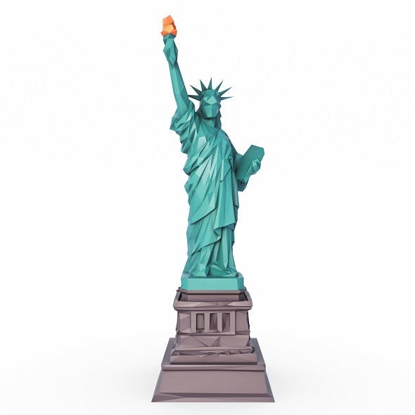 The Statue of Liberty Low Poly