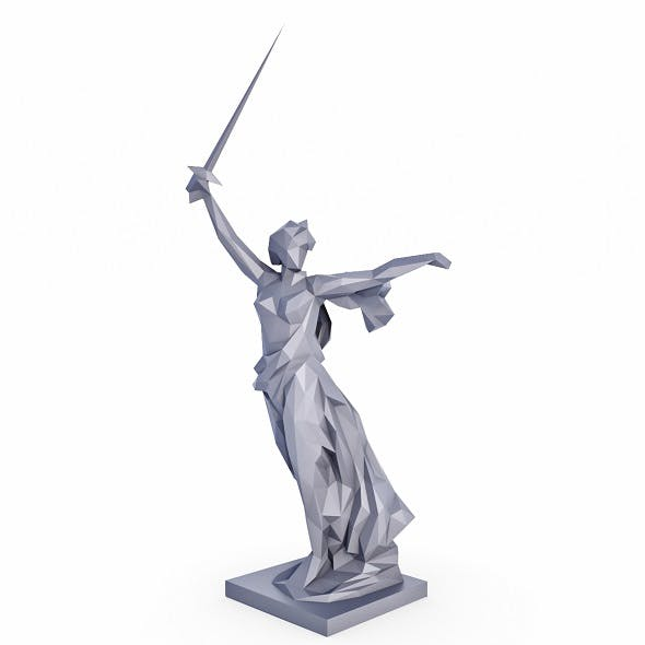 The Motherland Calls Low Poly